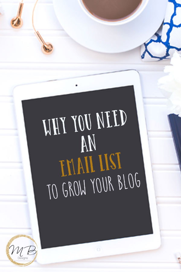 Don't put your blog in the hands of others, why you need an email list to grow your blog, you don't own social media but your email list is your own.