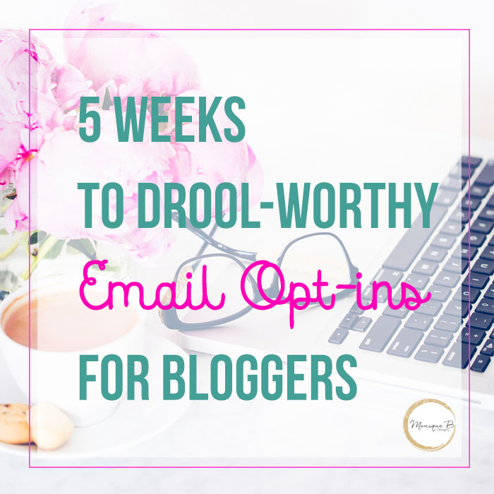 5 Weeks to Drool-Worthy Email Opt-ins for Bloggers