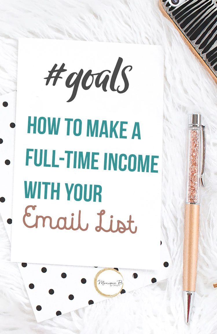 Your email list should be your #1 priority because it works, see how to make a full-time income with your email list. Bloggers, you need this!