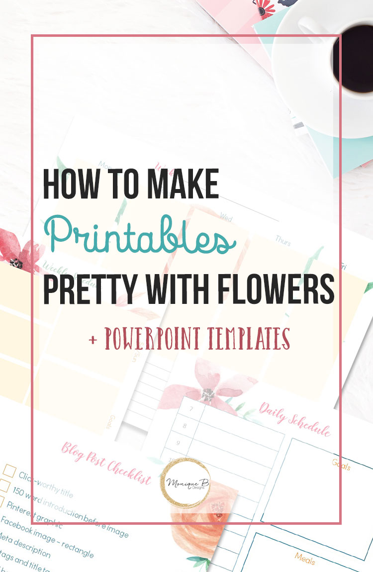 photograph about How to Create a Printable named Beautiful Floral Site Planner and the PowerPoint Templates
